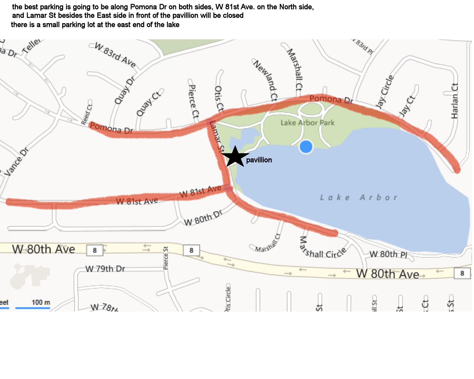 Denver Walk Parking Map