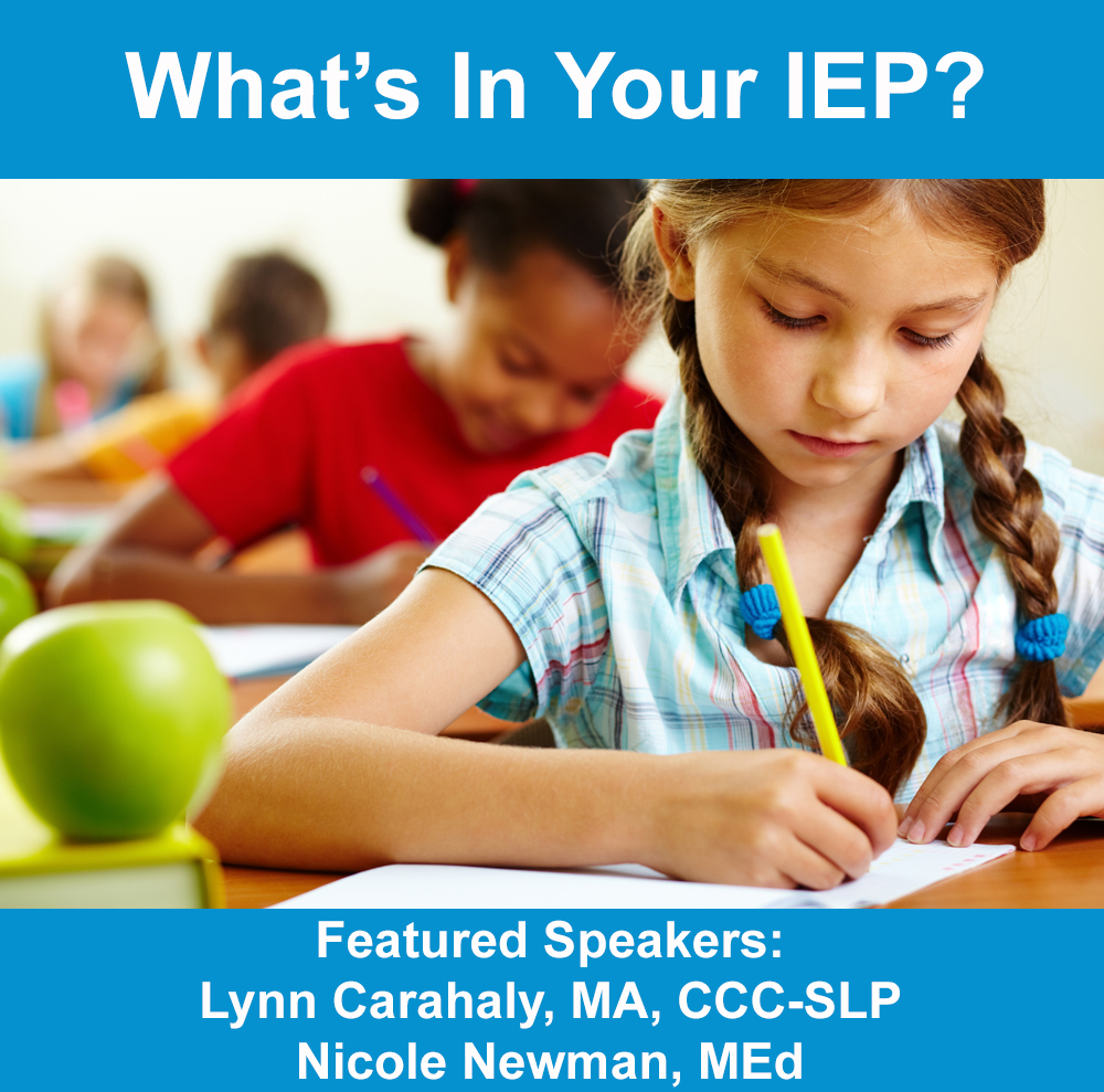 Whats In Your IEP Graphic