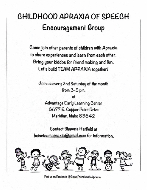 Boise Apraxia Encouragement Group