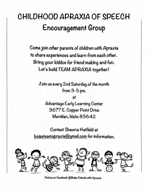 Boise Apraxia Encouragement Group