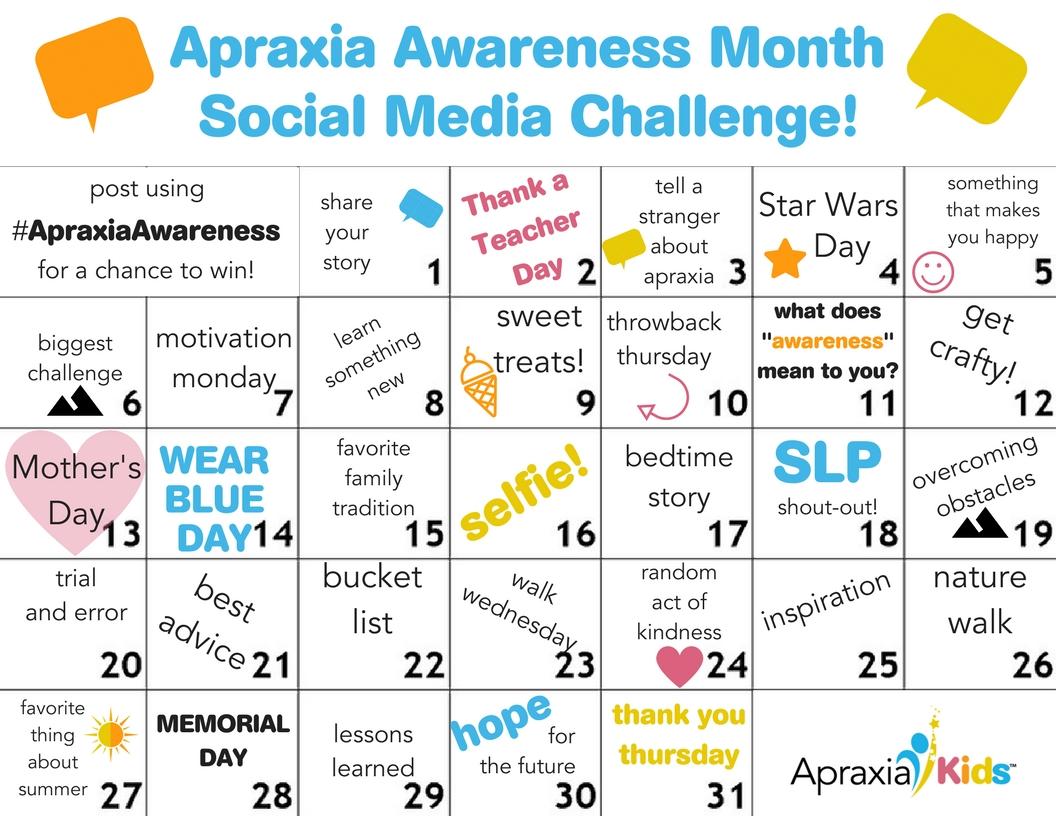 Apraxia Awareness Month Social Media Challenge (2)