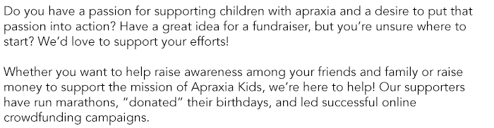 Fundraising Page text