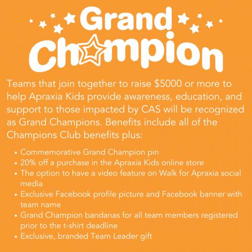 July Walk Newsletter - Grand Champions